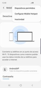 Configurar para compartir el uso de internet - Samsung Galaxy S10e - Passo 9