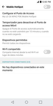 Configurar para compartir el uso de internet - LG G6 - Passo 5