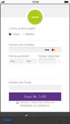 Recarga con tarjeta de crédito/débito - iOS VIVA APP - Passo 9