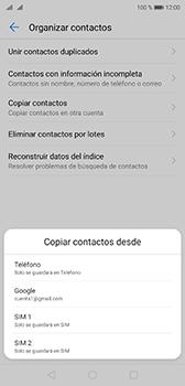 Sincronizar contactos con una cuenta Gmail - Huawei P20 - Passo 6