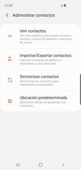 Sincronizar contactos con una cuenta Gmail - Samsung Galaxy S10e - Passo 11