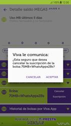 Suscripción y desuscripción de una bolsa de MB - Android VIVA APP - Passo 19
