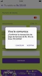 Pago de facturas con tarjeta de crédito/débito - iOS VIVA APP MÓVIL - Passo 12