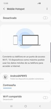 Configurar para compartir el uso de internet - Samsung Galaxy S10+ - Passo 12