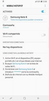 Configurar para compartir el uso de internet - Samsung Galaxy Note 8 - Passo 14
