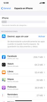 Liberar espacio en el teléfono - Apple iPhone X - Passo 5