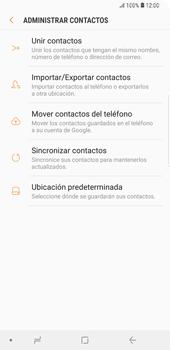 Sincronizar contactos con una cuenta Gmail - Samsung Galaxy S9+ - Passo 9