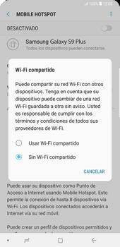 Configurar para compartir el uso de internet - Samsung Galaxy S9+ - Passo 6