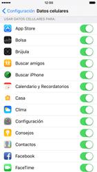 Verificar el uso de datos por apps - Apple iPhone 7 (iOS10) - Passo 4