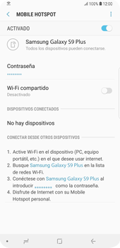 Configurar para compartir el uso de internet - Samsung Galaxy S9+ - Passo 13
