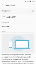 Configurar para compartir el uso de internet - Samsung Galaxy A5 2017 (A520) - Passo 11