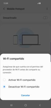 Configurar para compartir el uso de internet - Samsung Galaxy S10+ - Passo 7