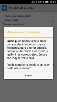 Configurar el correo electrónico - Alcatel Pop C9 - Passo 11