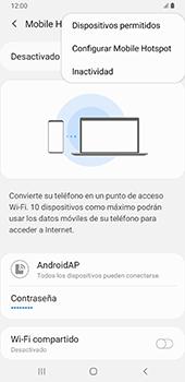 Configurar para compartir el uso de internet - Samsung Galaxy A9 (2018) - Passo 9