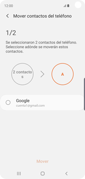 Sincronizar contactos con una cuenta Gmail - Samsung Galaxy S10e - Passo 9