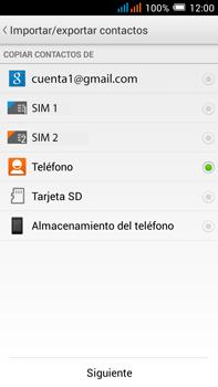 Sincronizar contactos con una cuenta Gmail - Alcatel Pop C9 - Passo 9