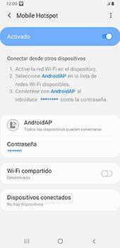 Configurar para compartir el uso de internet - Samsung Galaxy J8 - Passo 13
