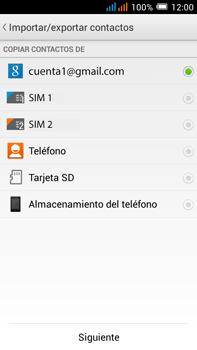 Sincronizar contactos con una cuenta Gmail - Alcatel Pop C9 - Passo 8