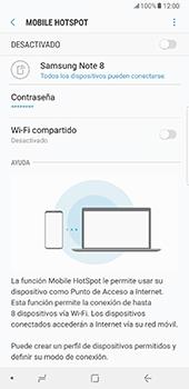 Configurar para compartir el uso de internet - Samsung Galaxy Note 8 - Passo 12