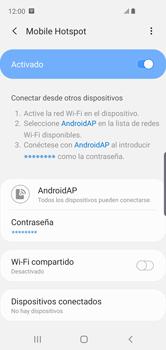 Configurar para compartir el uso de internet - Samsung Galaxy S10e - Passo 13