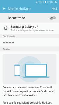 Configurar para compartir el uso de internet - Samsung Galaxy J7 2016 (J710) - Passo 9