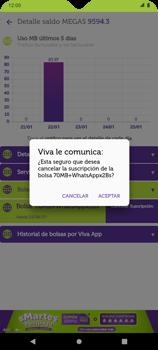 Suscripción y desuscripción de una bolsa de MB - Android VIVA APP - Passo 18