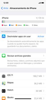 Liberar espacio en el teléfono - Apple iPhone X - Passo 4