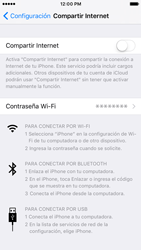 Configurar para compartir el uso de internet - Apple iPhone 7 (iOS10) - Passo 13