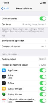 Configurar para compartir el uso de internet - Apple iPhone X - Passo 3