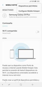 Configurar para compartir el uso de internet - Samsung Galaxy S9+ - Passo 8