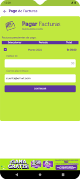 Pago de facturas con tarjeta de crédito/débito - Android VIVA APP - Passo 8