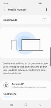 Configurar para compartir el uso de internet - Samsung Galaxy S10e - Passo 12