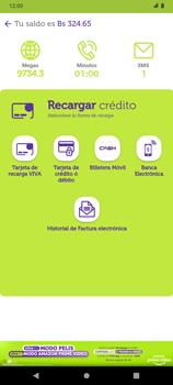 Recarga con tarjeta de crédito/débito - Android VIVA APP - Passo 4