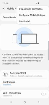 Configurar para compartir el uso de internet - Samsung Galaxy S10+ - Passo 9