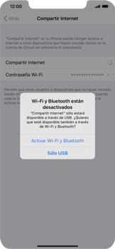 Configurar para compartir el uso de internet - Apple iPhone 11 - Passo 7