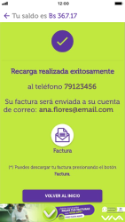 Recarga con tarjeta de crédito/débito - iOS VIVA APP MÓVIL - Passo 12