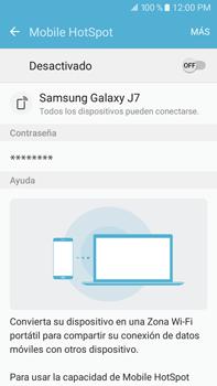 Configurar para compartir el uso de internet - Samsung Galaxy J7 2016 (J710) - Passo 5