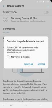 Configurar para compartir el uso de internet - Samsung Galaxy S9+ - Passo 12