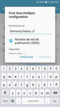 Configurar para compartir el uso de internet - Samsung Galaxy J7 2016 (J710) - Passo 7