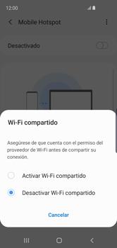 Configurar para compartir el uso de internet - Samsung Galaxy S10e - Passo 7