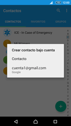 Sincronizar contactos con una cuenta Gmail - Sony Xperia Z5 Compact - Passo 11