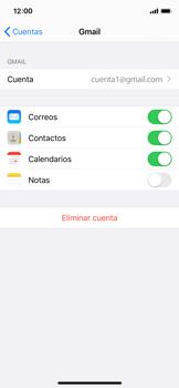 Sincronizar contactos con una cuenta Gmail - Apple iPhone X - Passo 10