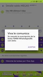 Suscripción y desuscripción de una bolsa de MB - Android VIVA APP - Passo 20