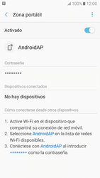 Configurar para compartir el uso de internet - Samsung Galaxy A3 2017 (A320) - Passo 12