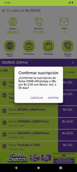 Suscripción y desuscripción de una bolsa de MB - Android VIVA APP - Passo 7