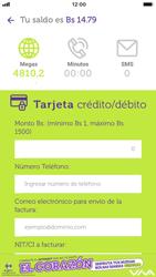 Recarga con tarjeta de crédito/débito - iOS VIVA APP - Passo 5