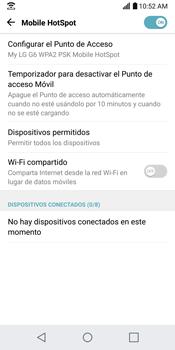 Configurar para compartir el uso de internet - LG G6 - Passo 10