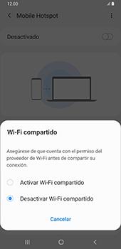 Configurar para compartir el uso de internet - Samsung Galaxy A9 (2018) - Passo 7