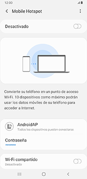 Configurar para compartir el uso de internet - Samsung Galaxy J8 - Passo 7