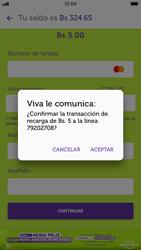 Recarga con tarjeta de crédito/débito - iOS VIVA APP MÓVIL - Passo 11